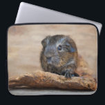 "Little Guinea Pig Painting Laptop Sleeve<br><div class=""desc"">Little guinea pig painting features a cute brown guinea pig on a piece of wood. Even though the guinea pig is considered a rodent,  it&#39;s a very adorable one.</div>"