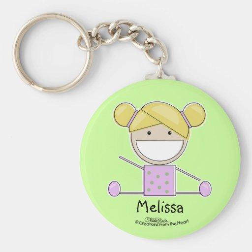 Little Gymnast Girl-Shape Up Keychain