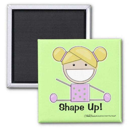 Little Gymnast Girl-Shape Up Magnets
