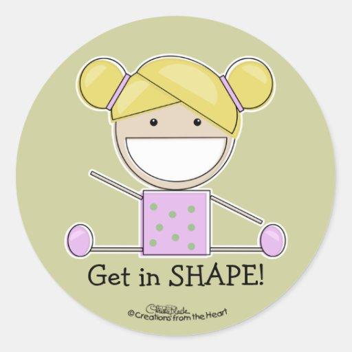 Little Gymnast Girl-Shape Up Sticker