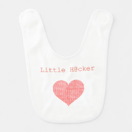 Little Hacker Baby Bib