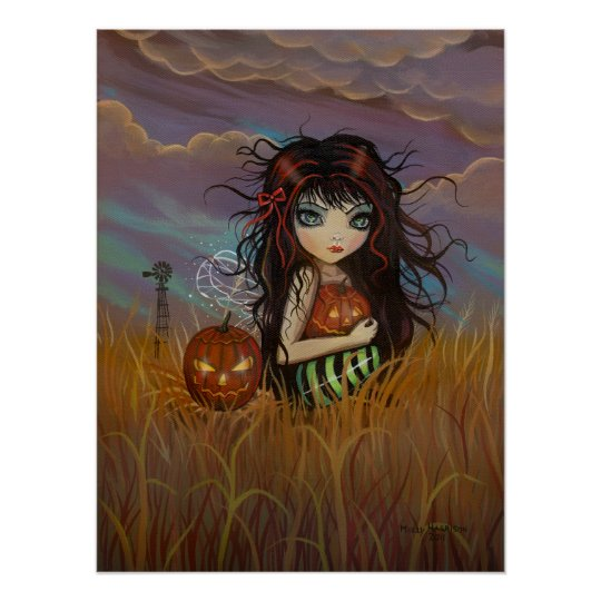 Little Halloween Fairy Poster Print