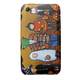 Little Halloween Kids Folk Art iPhone Case Case-Mate iPhone 3 Cases