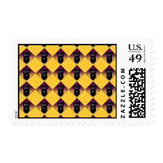 Little Halloween Owl Pattern Postage Stamps