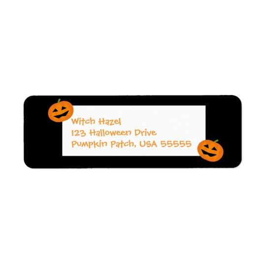 Little Halloween Pumpkins Label