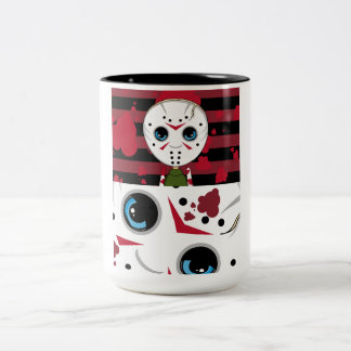 LIttle Halloween Serial Killer Coffee Cup Two-Tone Coffee Mug