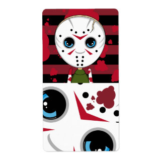 LIttle Halloween Serial Killer Sticker Label