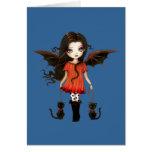 Little Halloween Vampire Card
