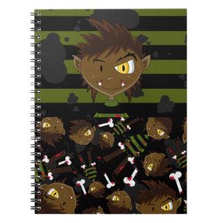 Little Halloween Werewolf Notebook