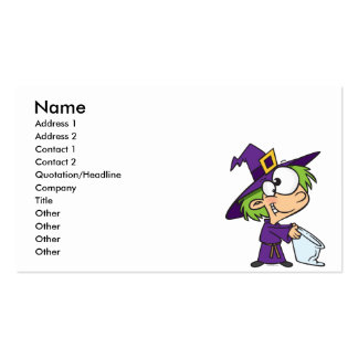 little halloween witch kid Double-Sided standard business cards (Pack of 100)