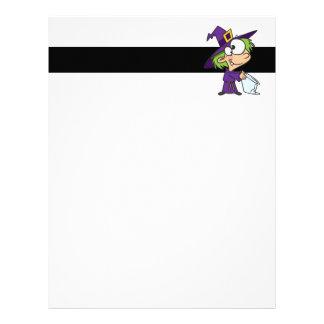 little halloween witch kid letterhead