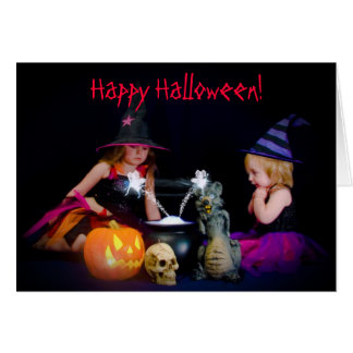 Little Halloween Witches Greeting Card
