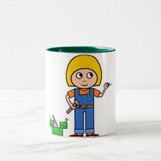 Little Handy Girl Two-Tone Coffee Mug