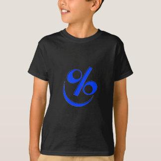 Little Happy blue percent T-Shirt