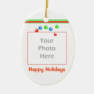 Little Happy Holiday Ornaments (2 photo frame) Ornaments