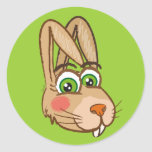 Little Hare - round sticker