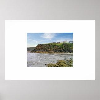 little haven; pembrokeshire coast; wales; póster