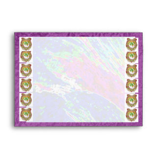 Little Heart Emerald Wreath :  Silk Sparkle Border Envelope