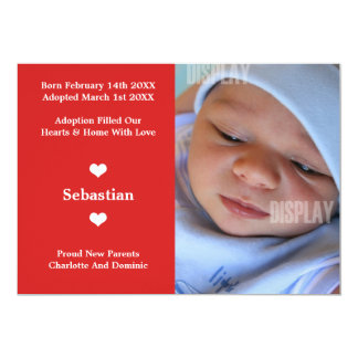 Little Heart New Baby Adoption Announcement