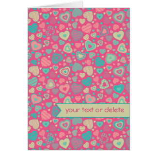Little heart pattern Popsicle Love with banner Card