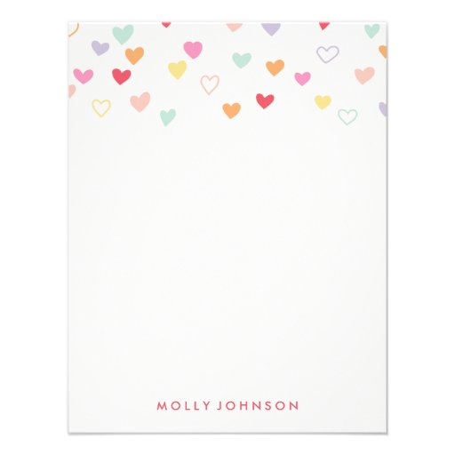 Little Hearts A2 Stationery - Strawberry Personalized Invites