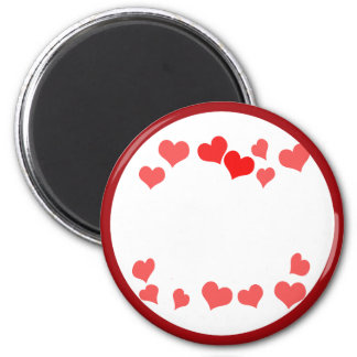 Little Hearts - Add Your Message 2 Inch Round Magnet