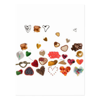 little hearts collection postcard