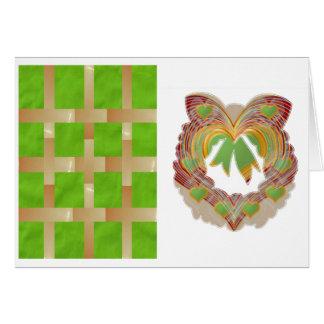Little Hearts Golden n Emerald : Chequered  Wreath Card