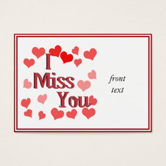 Little Hearts -  I Miss You Business Card