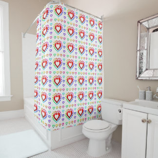 Little Hearts Series - Shower Curtain