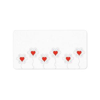 Little hearts subtle design label