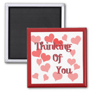 Little Hearts Thinking of You 2 Inch Square Magnet