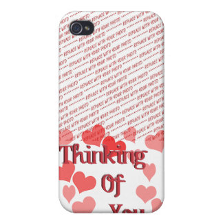 Little Hearts Thinking of You iPhone 4 Cases