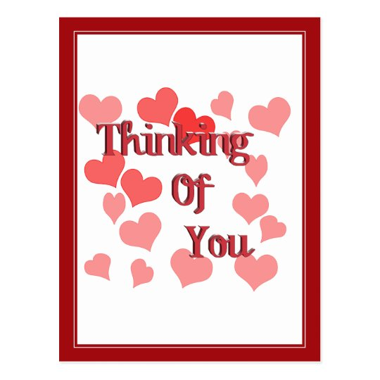 Little Hearts Thinking of You Postcard