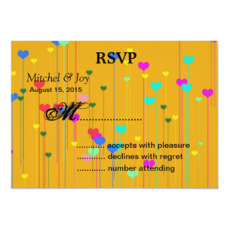 Little Hearts Wedding RSVP Reply Cards
