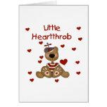 Little Heartthrob Boy Bear Greeting Card