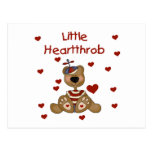 Little Heartthrob Boy Bear Post Cards