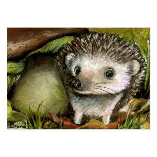 Little hedgehog ACEO prints Large Business Cards (Pack Of 100)