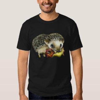 Little hedgehog and apple t shirt