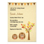 Little Hedgehog Baby Shower Invitation Rustic Personalized Invites