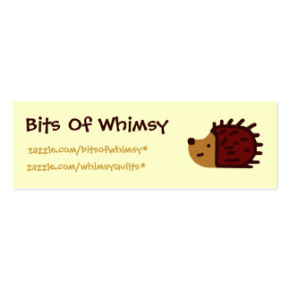 Little Hedgehog! Double-Sided Mini Business Cards (Pack Of 20)