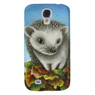 Little hedgehog on a big pile of leaves samsung galaxy s4 case
