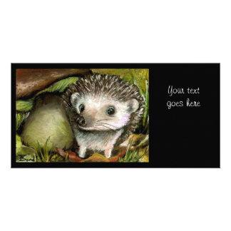 Little hedgehog photo card