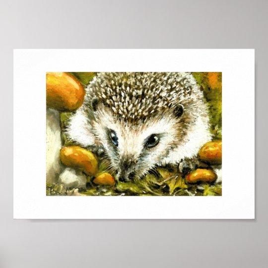 Little hedgehog print