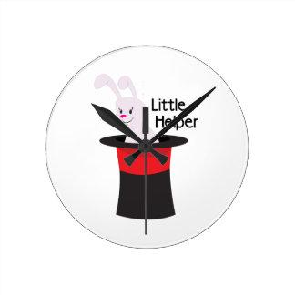 Little Helper Round Clock