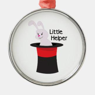 Little Helper Round Metal Christmas Ornament