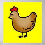 Little hen print