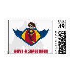 Little Heroes Superhero Postage Stamp