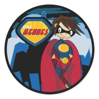 Little Heroes Superhero Sticker Sheet sticker