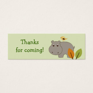 Little Hippo Birthday baby Shower Favor Gift Tags